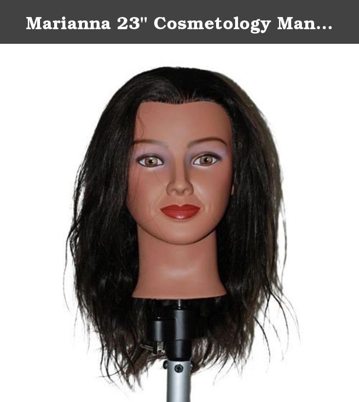 Marianna 23 Cosmetology Mannequin Head 100 Human Hair Hispanic