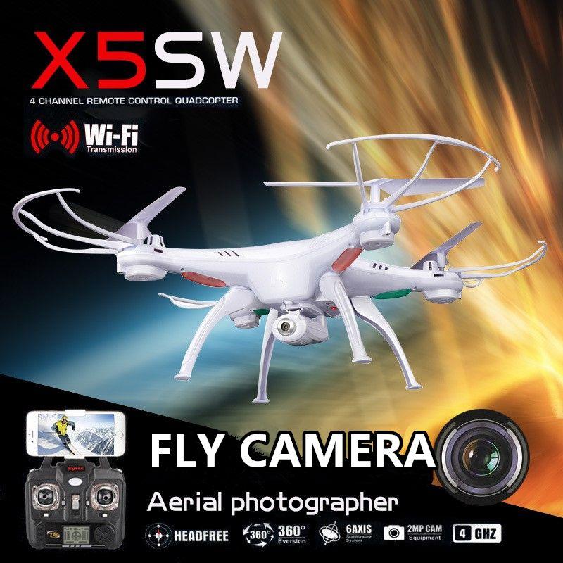 Syma x5sw x5sw-1 fpvドローンx5cフライwifiカメラリアル時間ビデオrc quadcopter 2.4グラム6軸quadrocopter vs rcドローンls126