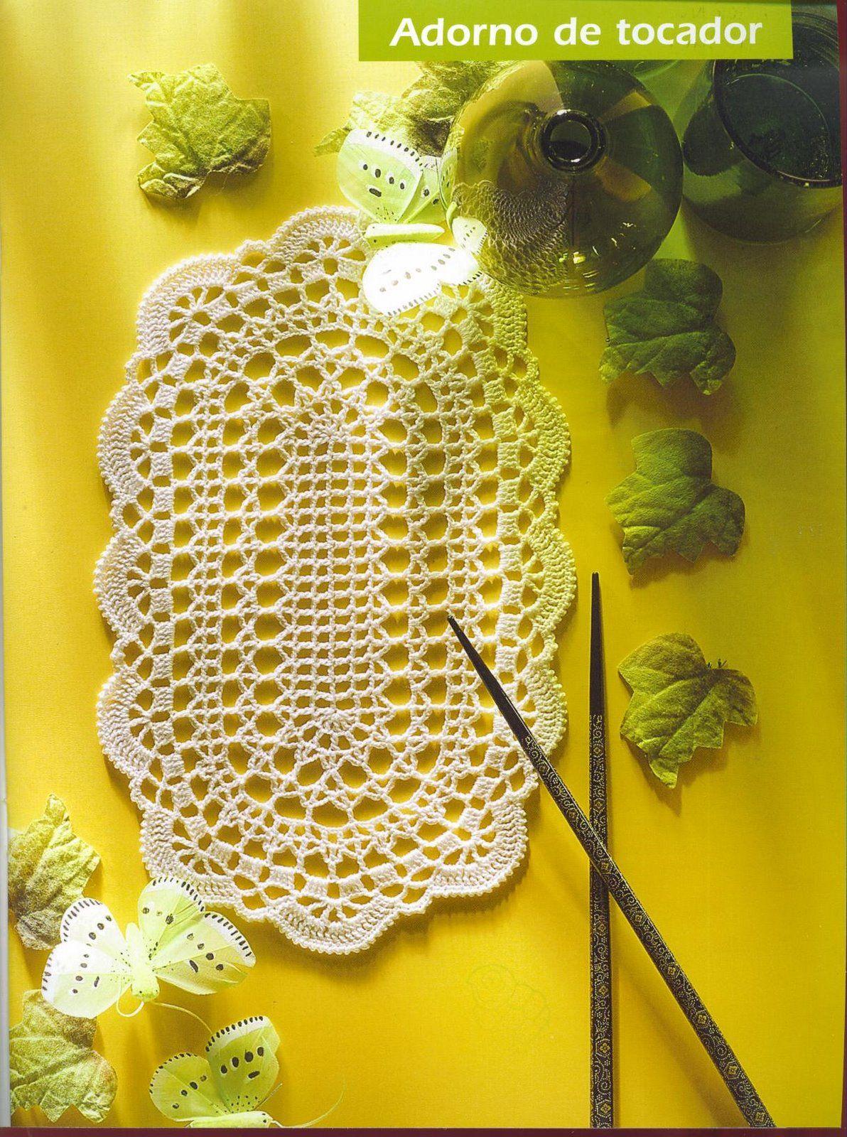 DIÁRIO DO CROCHE...: TOALHA OVAL | Graficos de croche | Pinterest