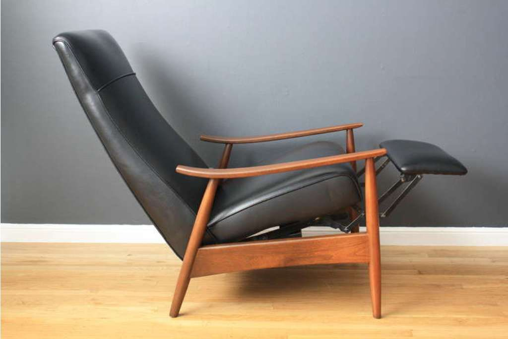 Milo Baughman Recliner Lounge Chair Mid Century Modern Vintage Danish Modern Mod Mid Century Modern Recliner Contemporary Recliners Modern Recliner Chairs