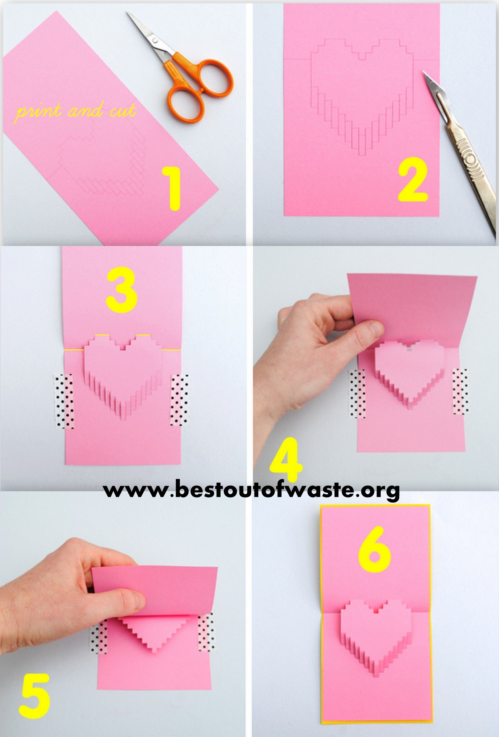 Heart shaped pop up card valentines day 6 diy ideas for kids on heart shaped pop up card valentines day 6 diy ideas for kids on valentines day 2014 kristyandbryce Choice Image
