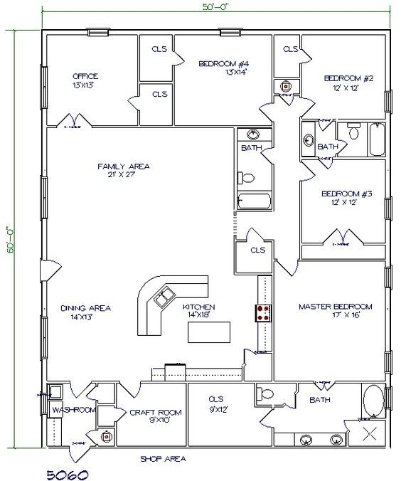 Barndo Floor Plan 5 Bedroom 3000 Sq Ft House Plans