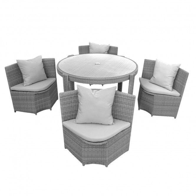 Anndora Castina Gartenmobel Sitzgruppe Mobel Polyrattan 1 Tisch 4 Stuhle Polster Grau Online Kaufen Sitzgruppe Couch Mobel Mobel
