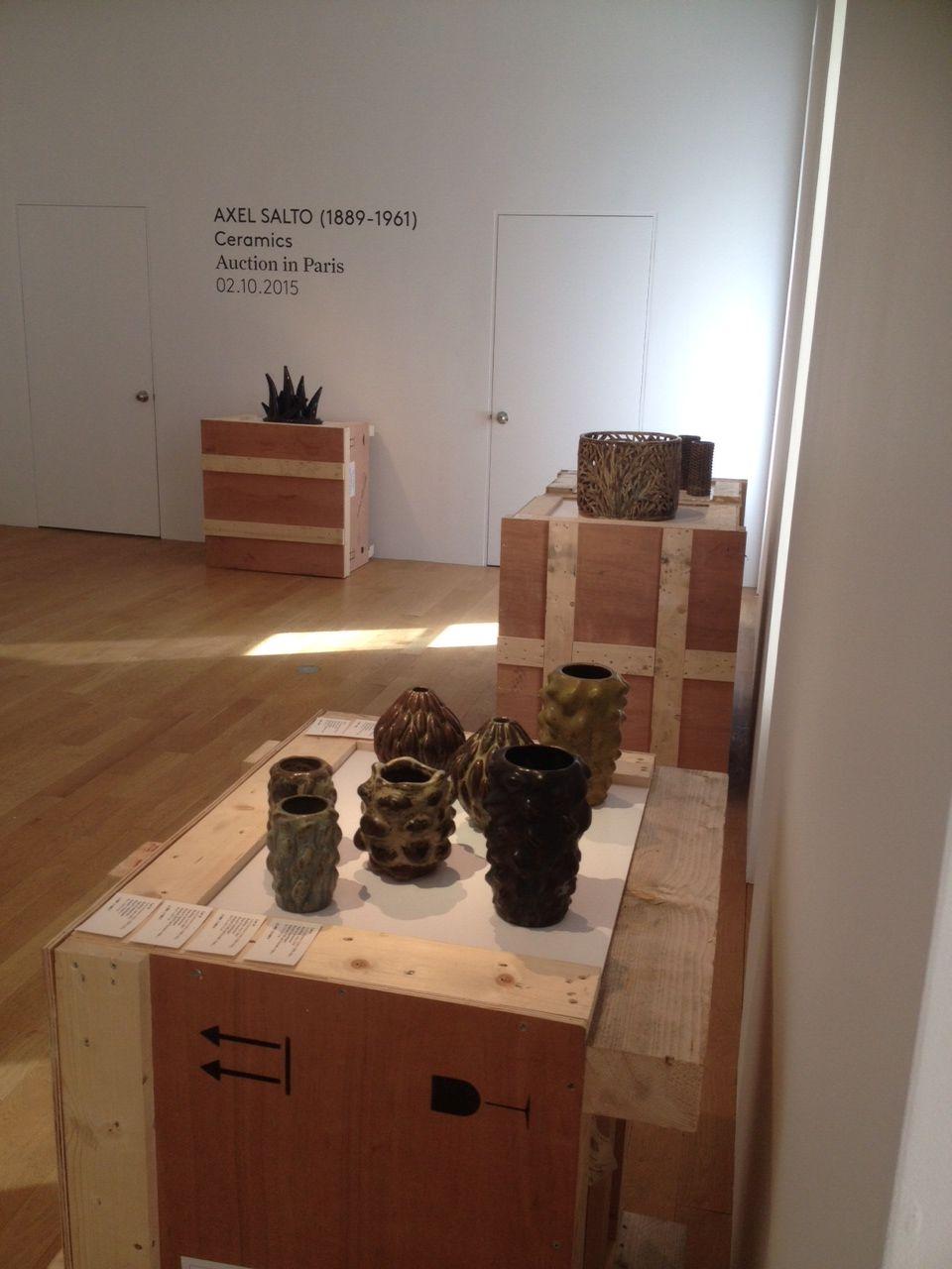 Exposition preview Axel Salto, ceramics New-York @friedman&vallois 27E67th St #AxelSalto #Friedmanvallois #ceramics