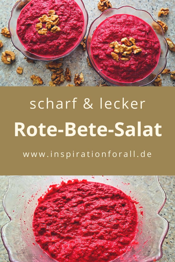 Rote Bete Salat Mit Knoblauch Einfaches Rezept Rezept Leckere