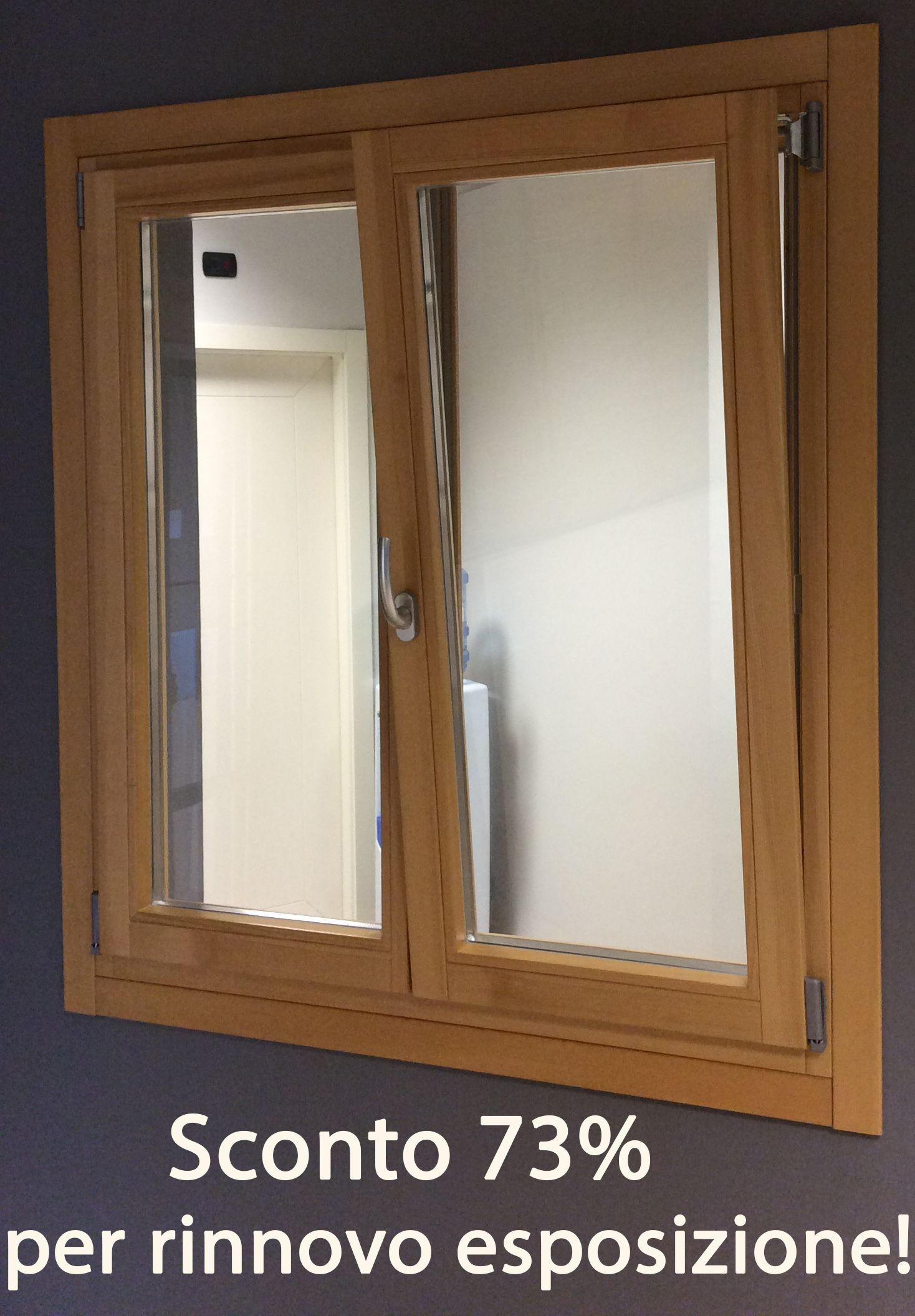 Finestra in legno a 2 ante ZETA 80 ABETE LAMELLARE verniciatura ...