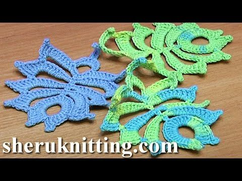 How To Crochet Two Side Leaf Work In Back Loops Tutorial 3 Youtube