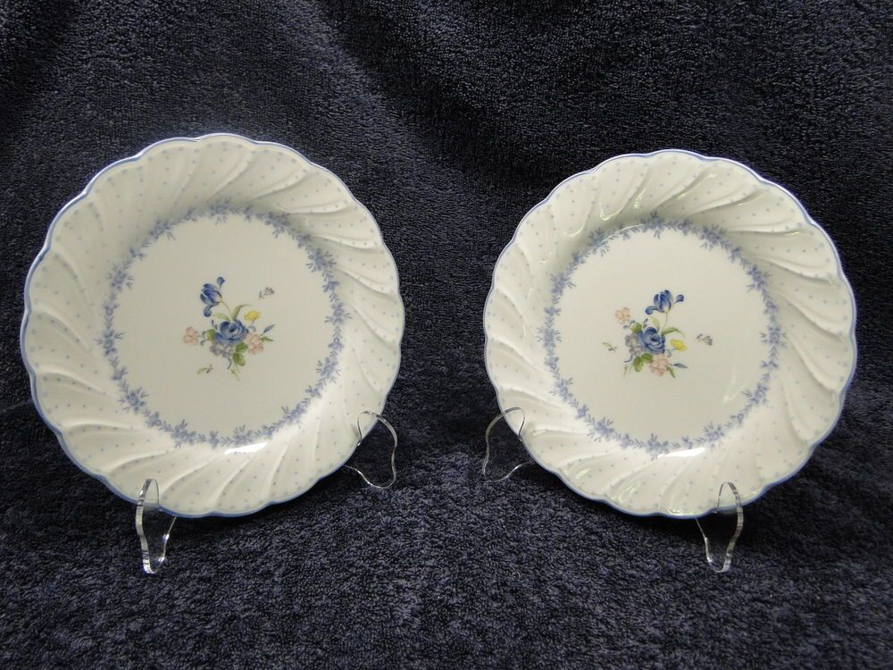 Nikko Blue Peony Salad Plates 7 1/2  TWO Plates EXCELLENT! : nikko blue peony dinnerware - pezcame.com
