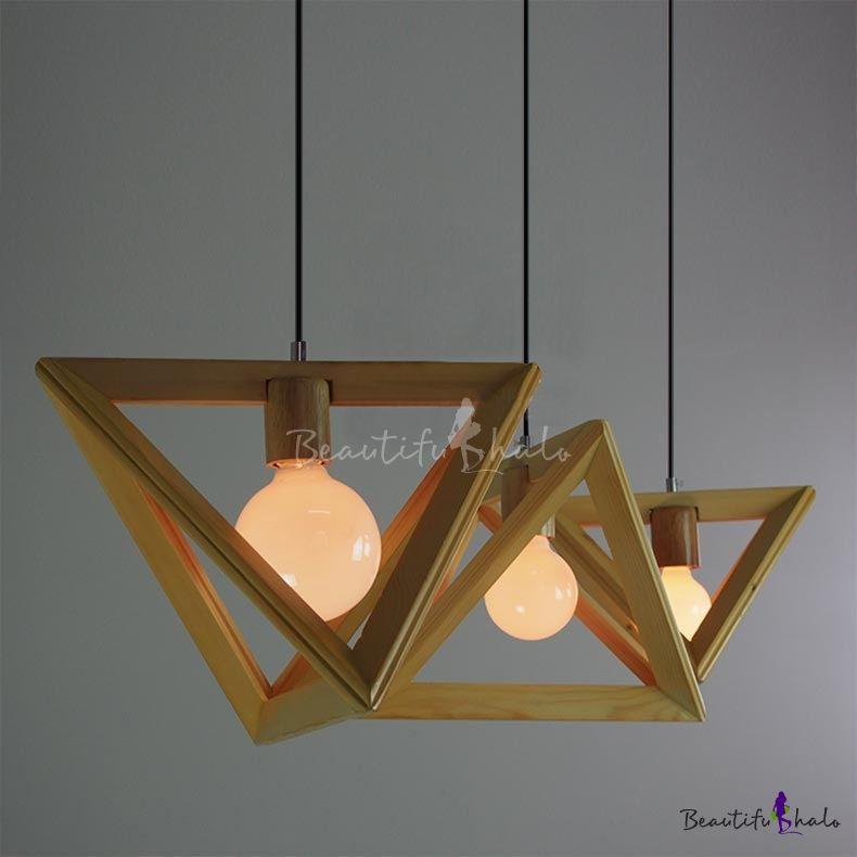 Wooden triangle brilliant design large pendant light for dinning wooden triangle brilliant design large pendant light for dinning room aloadofball Images