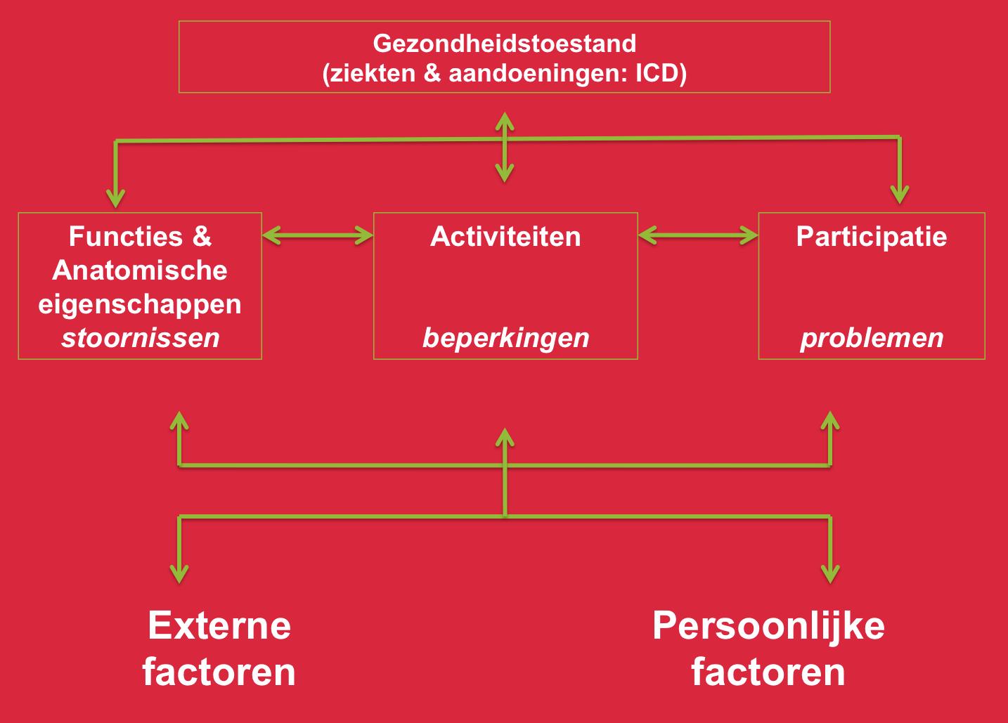 Schematische weergave van het basismodel van de ICF | zww 1 ...