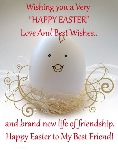 Very cute baby chick wishing happy easter to best friend ideas a warm and sweet ecard for your best friend free online happy easter to my best friend ecards on easter negle Gallery