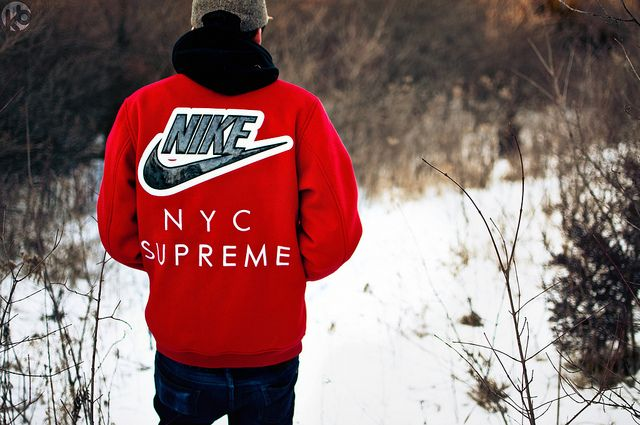 Supreme X Nike Sb Varsity Jacket