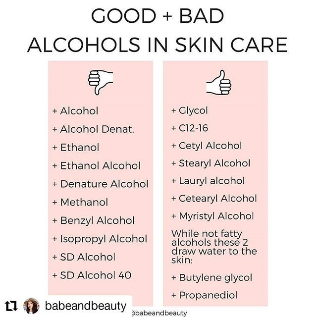 Alcohols In Skin Care The Good The Bad Natural Skin Care Skin Care Aging Skin Care