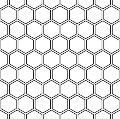 Vector Modern Seamless Geometry Pattern Hexagon Black And White Honeycomb Abstract Geometric Background Geometrischer Hintergrund Geometrie Tattoo Honigwaben