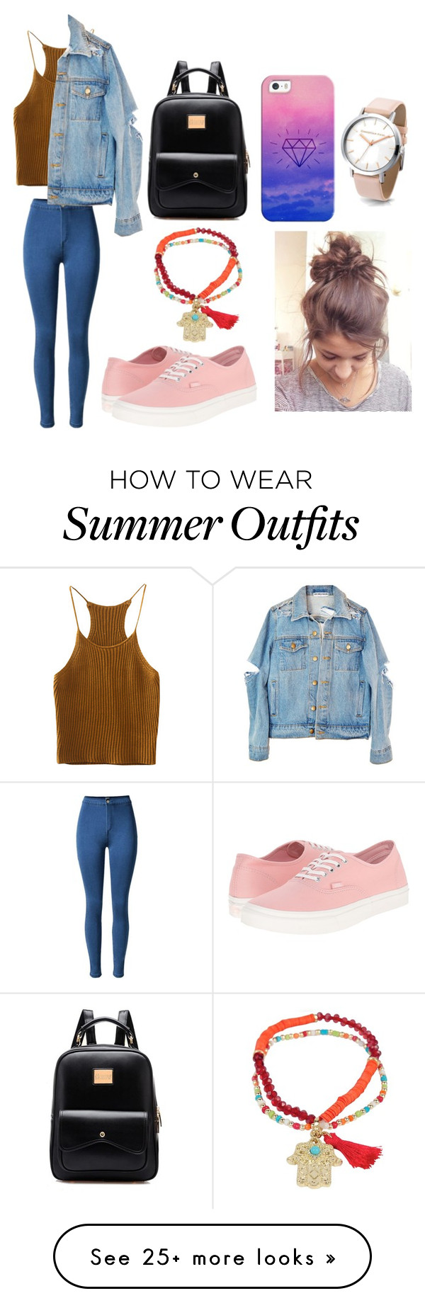 """""""Feels okay in this outfit"""" by destgreen on Polyvore featuring Sugar NY, Vans and Casetify"""