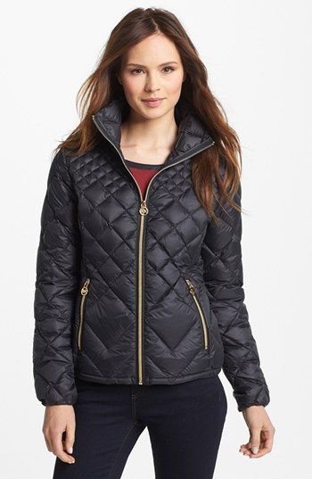 c6170865c904 MICHAEL Michael Kors Diamond Quilted Down Jacket (Online Only) available at   Nordstrom. LOVE THE BLACK