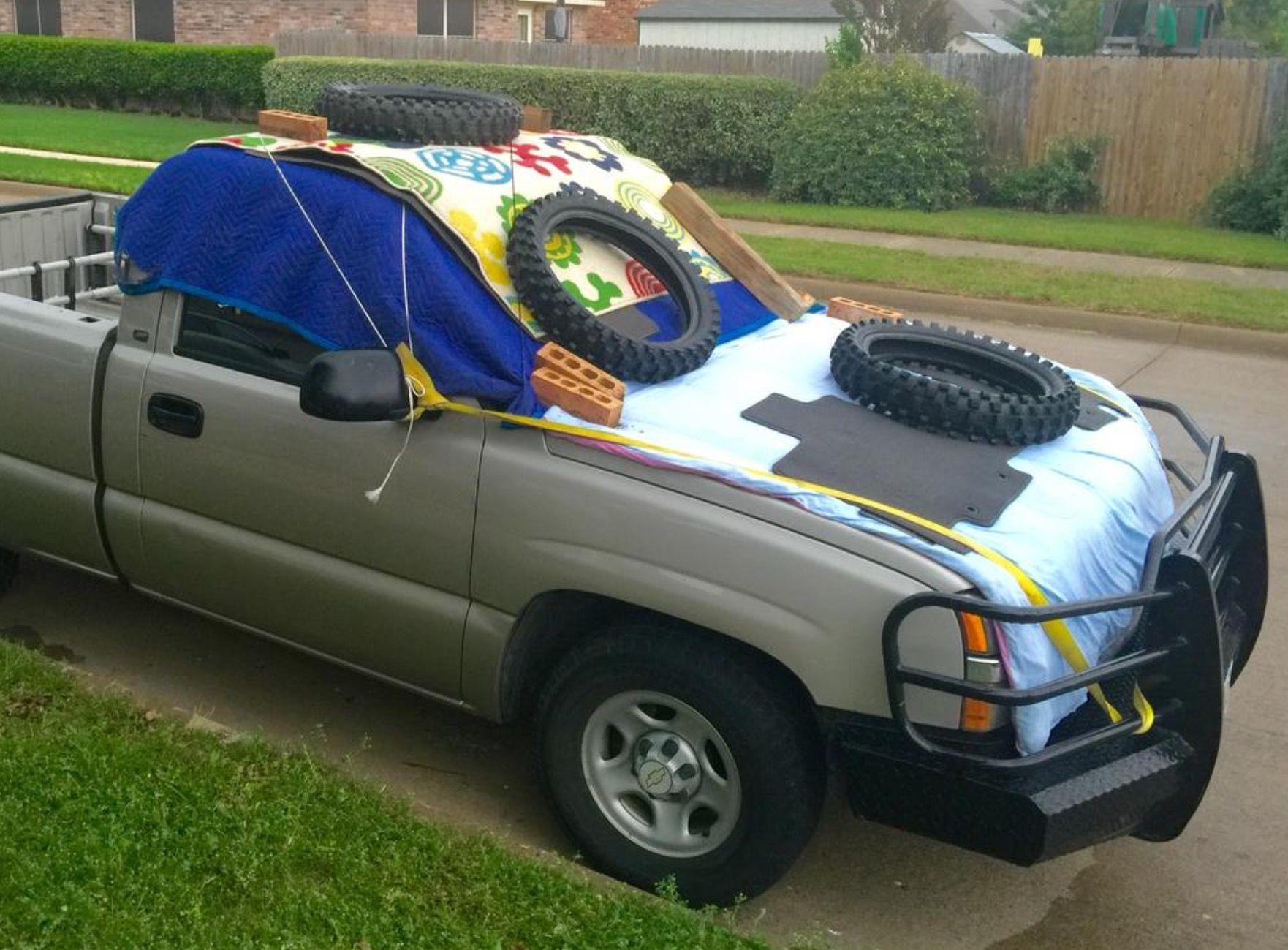 Texas hail damage prevention toy car monster trucks