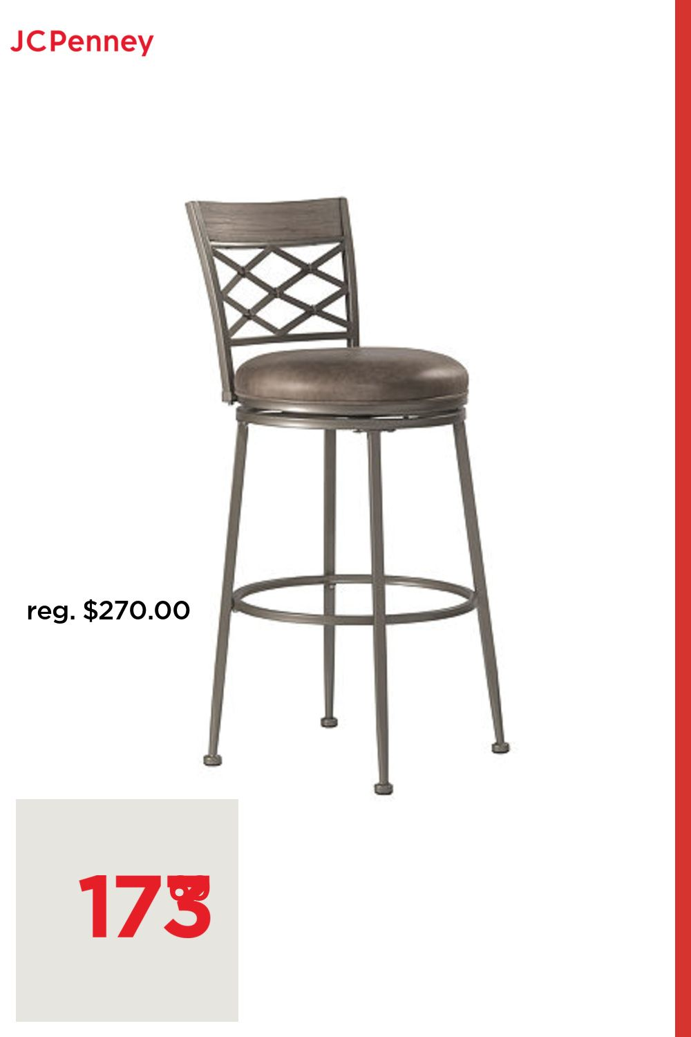 Hutchinson Swivel Counter Stool, One Size , Silver in 9 ...