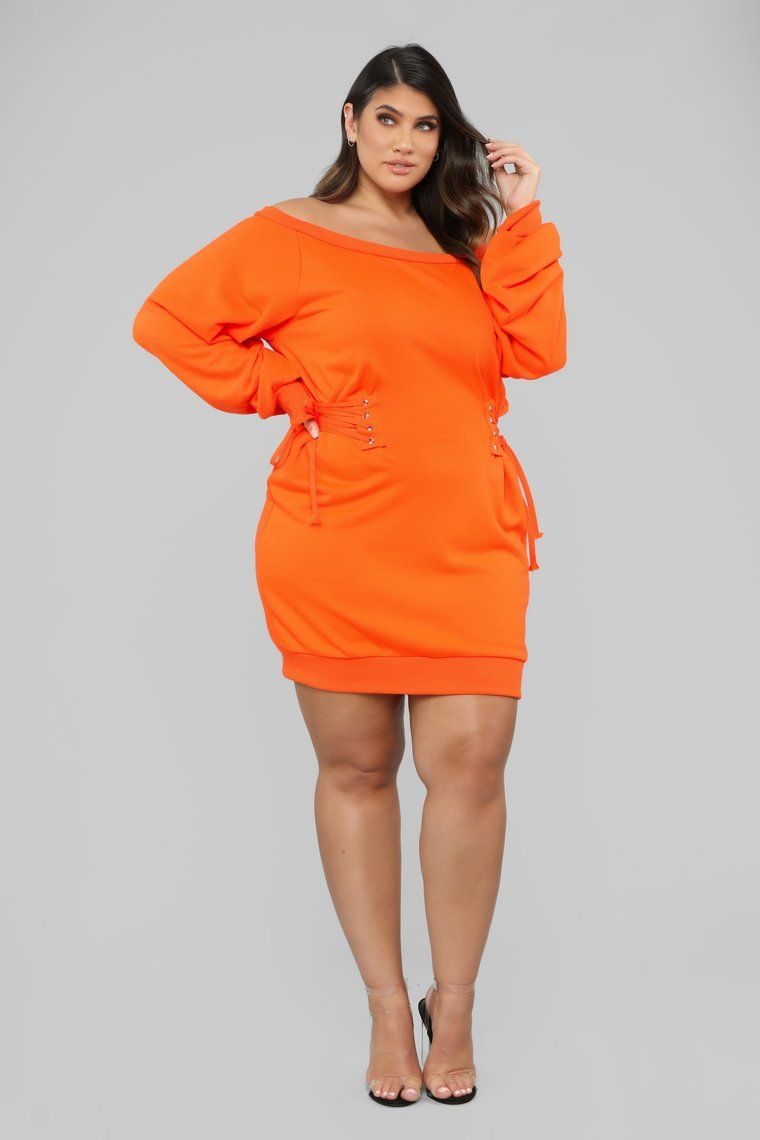 Rise And Grind Corset Dress - Neon Orange in 2019 | Neon ...
