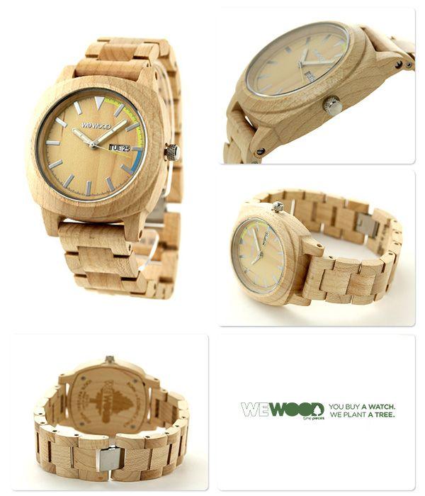 【楽天市場】ウィーウッド モートゥス クオーツ 木製 腕時計 9818037 WEWOOD ベージュ:腕時計のななぷれ