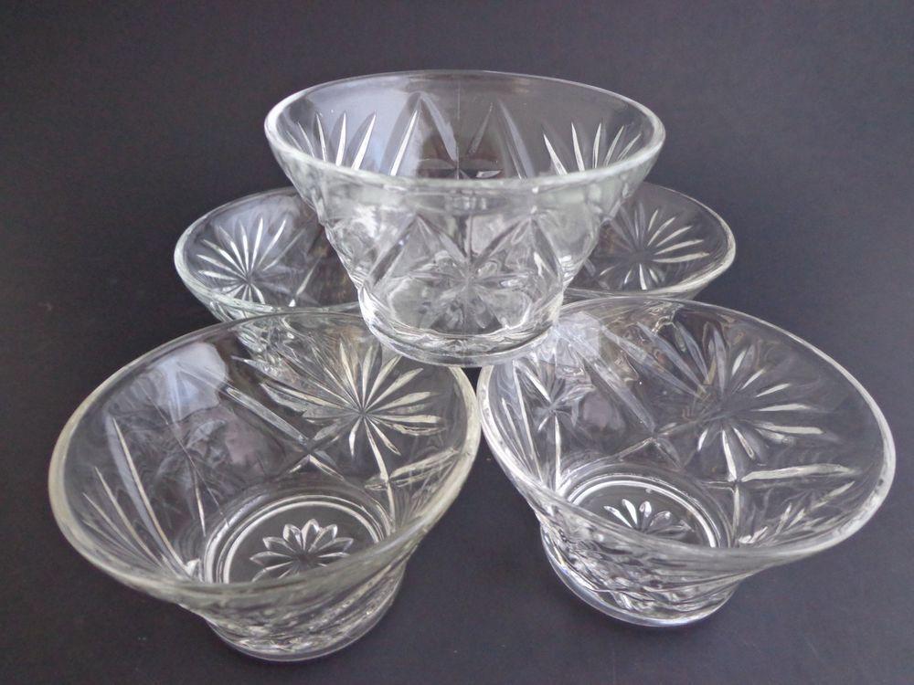 Oatmeal Glass Dessert Bowls