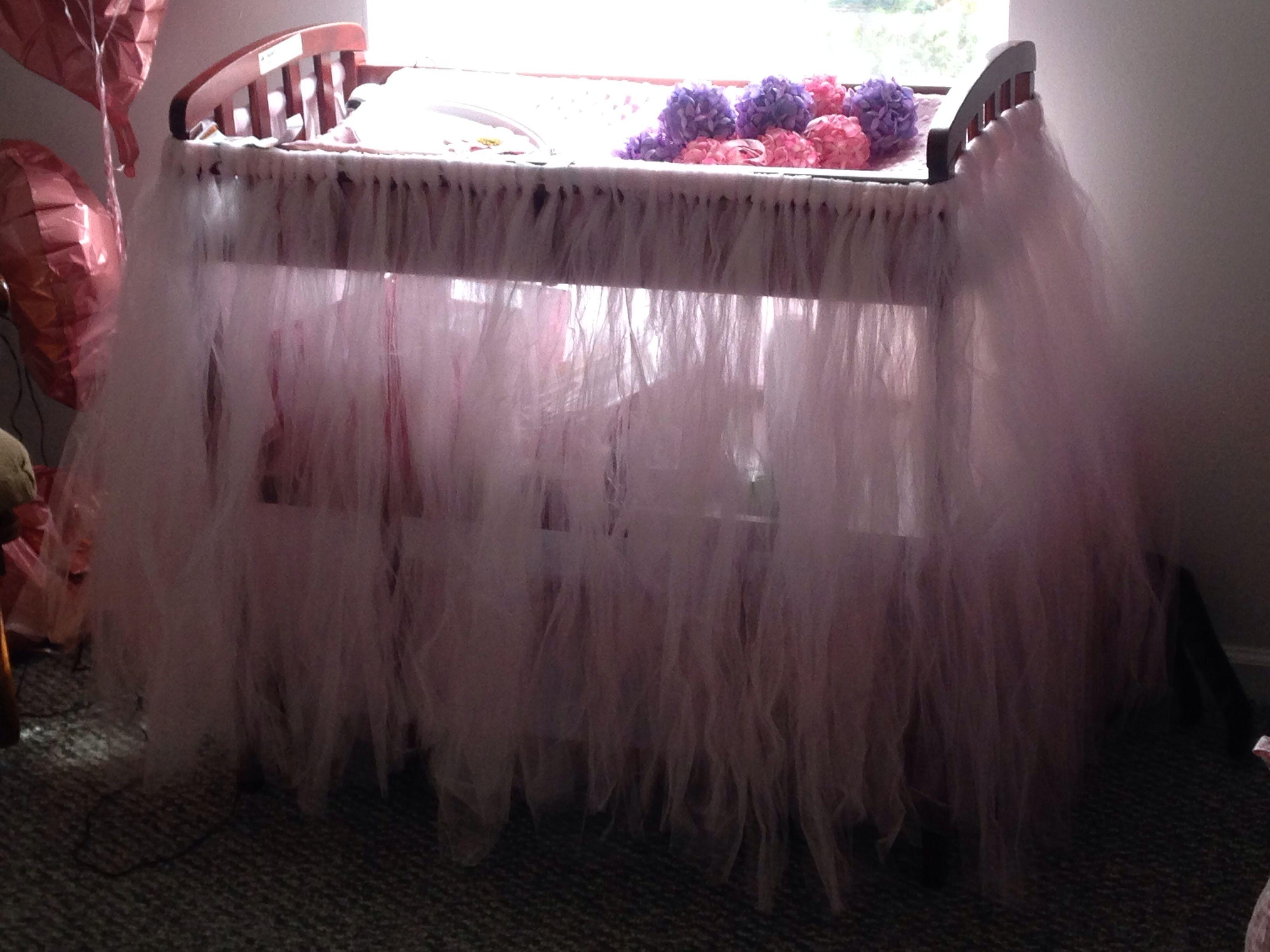 Baby girl Nursery changing table hand made tutus pink tutu big