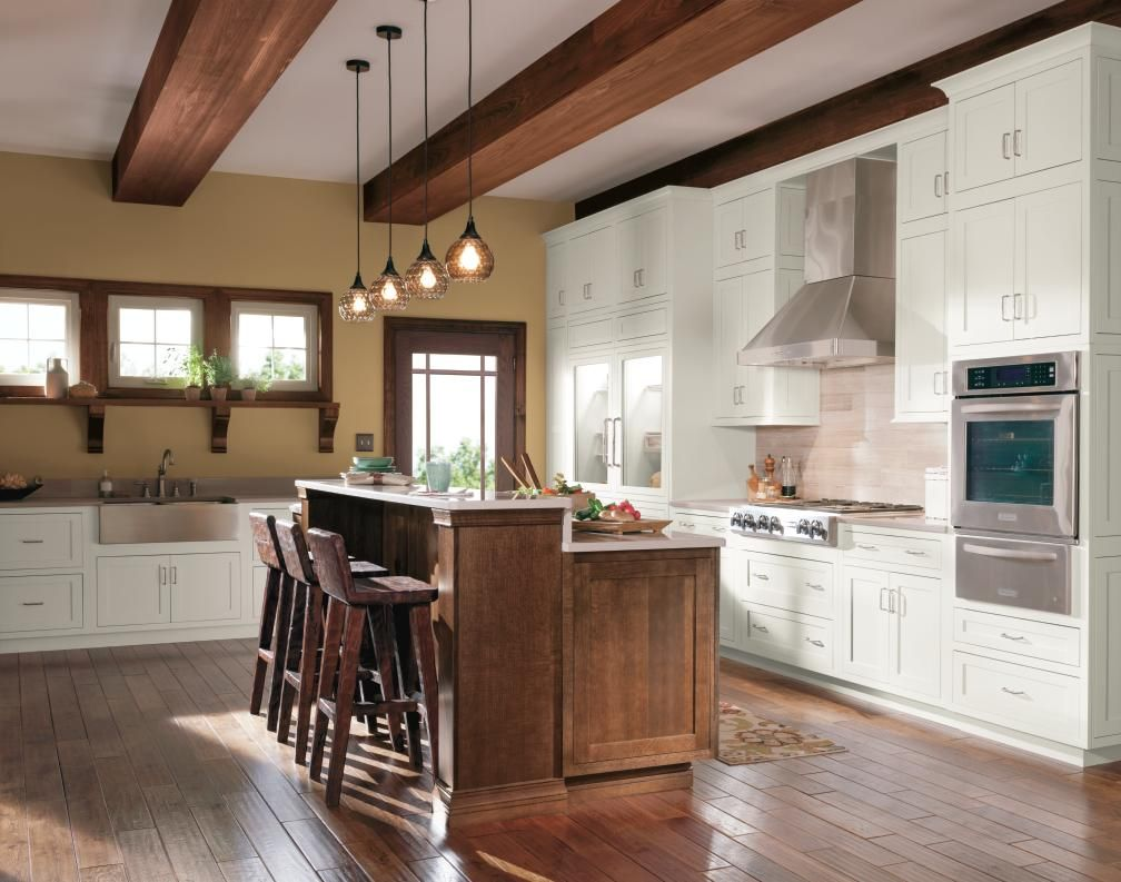 Decora S Harmony Doors With A Non Beaded Inset In Both Light And Dark Finishes Are The Focal Kitchen Cabinet Styles Rustic Kitchen Laminate Flooring In Kitchen