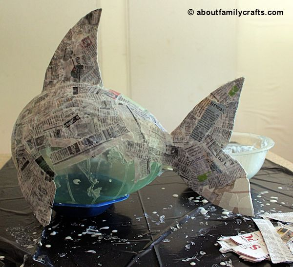 Make a Paper Mache Pinata Fish | About Family Crafts ...