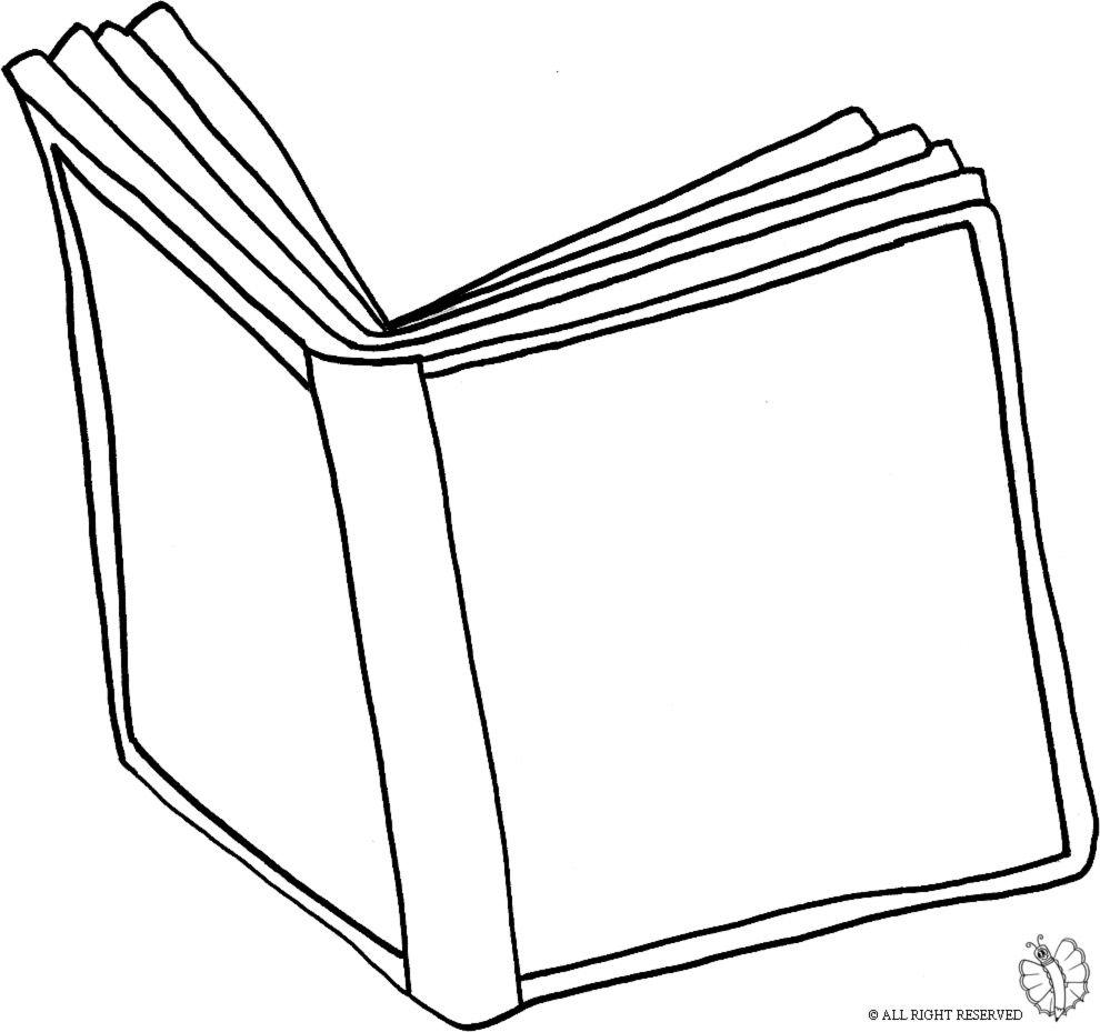 Disegno Di Libro Aperto Da Colorare Per Bambini Con Disegni Di Libri