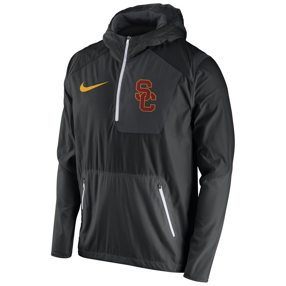 Leather jackets · USC Trojans Nike 2016 Sideline Vapor Fly Rush Half-Zip  Pullover Jacket - Black