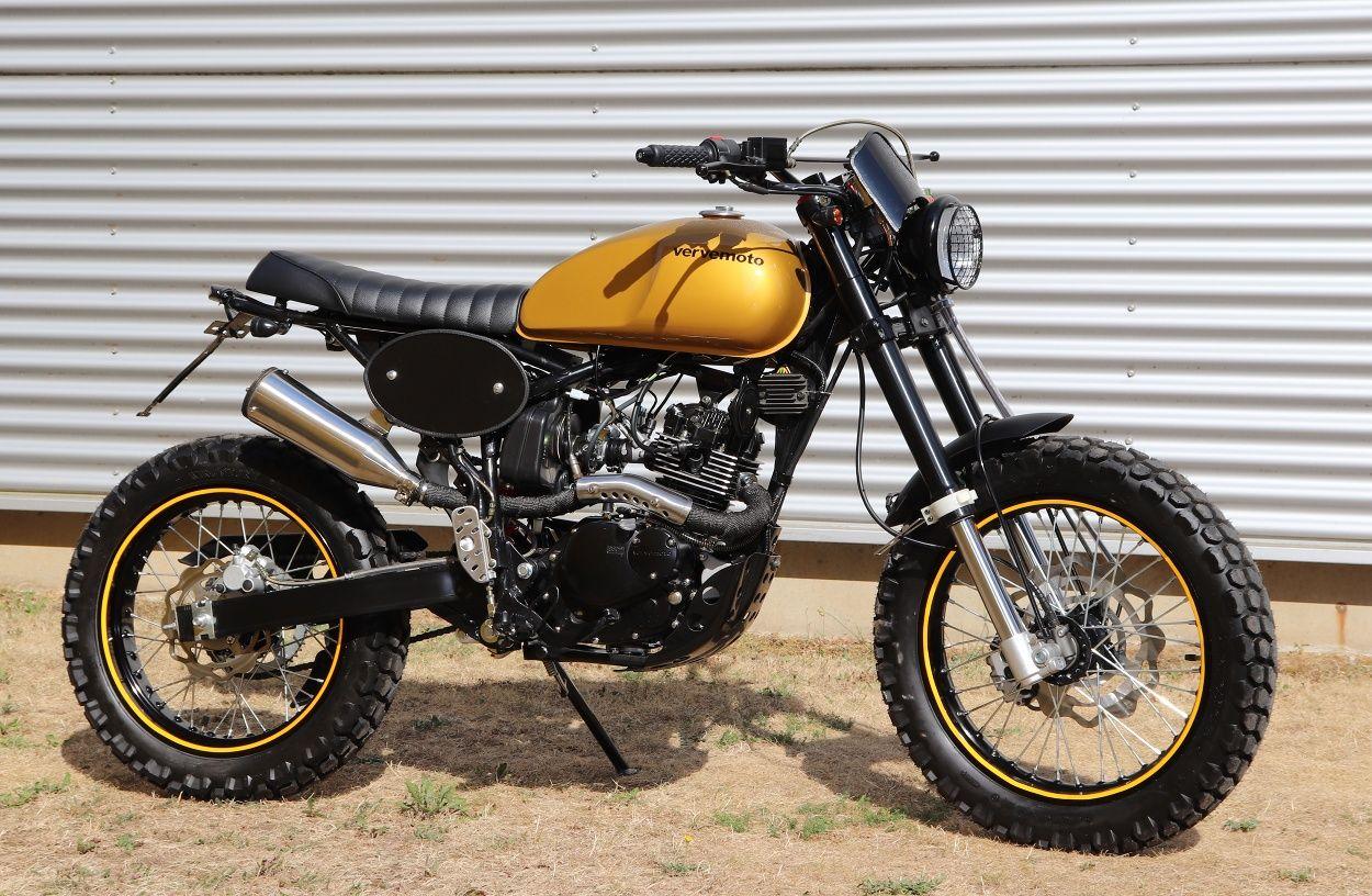 Verve Moto Tracker 125i Scrambler Custom Tracker Scrambler Motorcycle