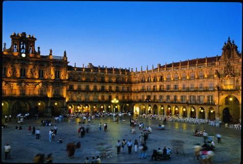 """Salamanca, Spain...our first ever European destination back in 1985.  I still remember a delicious """"cafe con leche"""" at an outdoor cafe in the Plaza Mayor seen here.  My first experience with espresso!"""