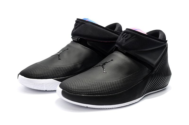 "Newest Jordan Why Not Zer0.1 ""PHD"" Black White-Pink-Blue Shoes ... a30175d99"