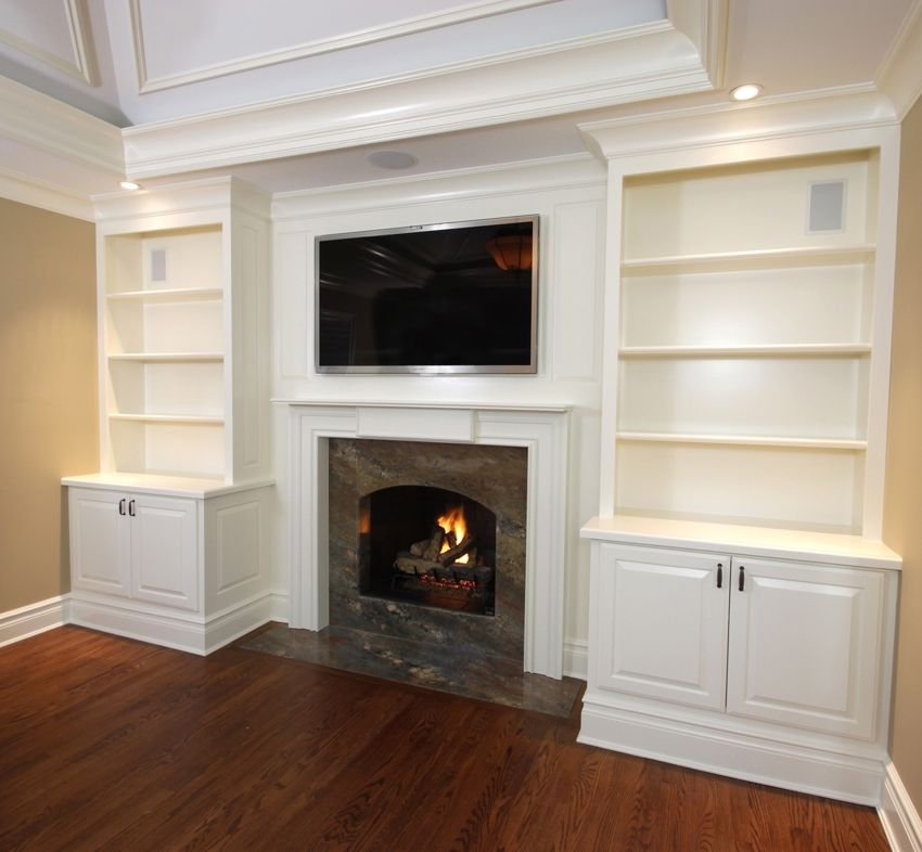 Built In Cabinets With Mantel 1 Fireplace Built Ins Built In