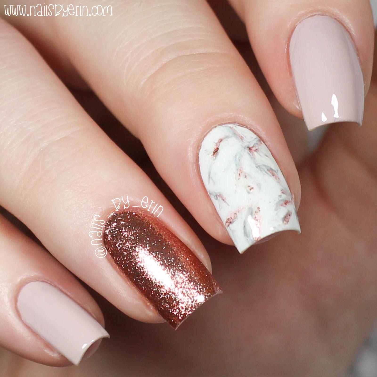 Nailsbyerin Rose Gold Marble Nails Rose Nail Art Nails Rose Gold Nails