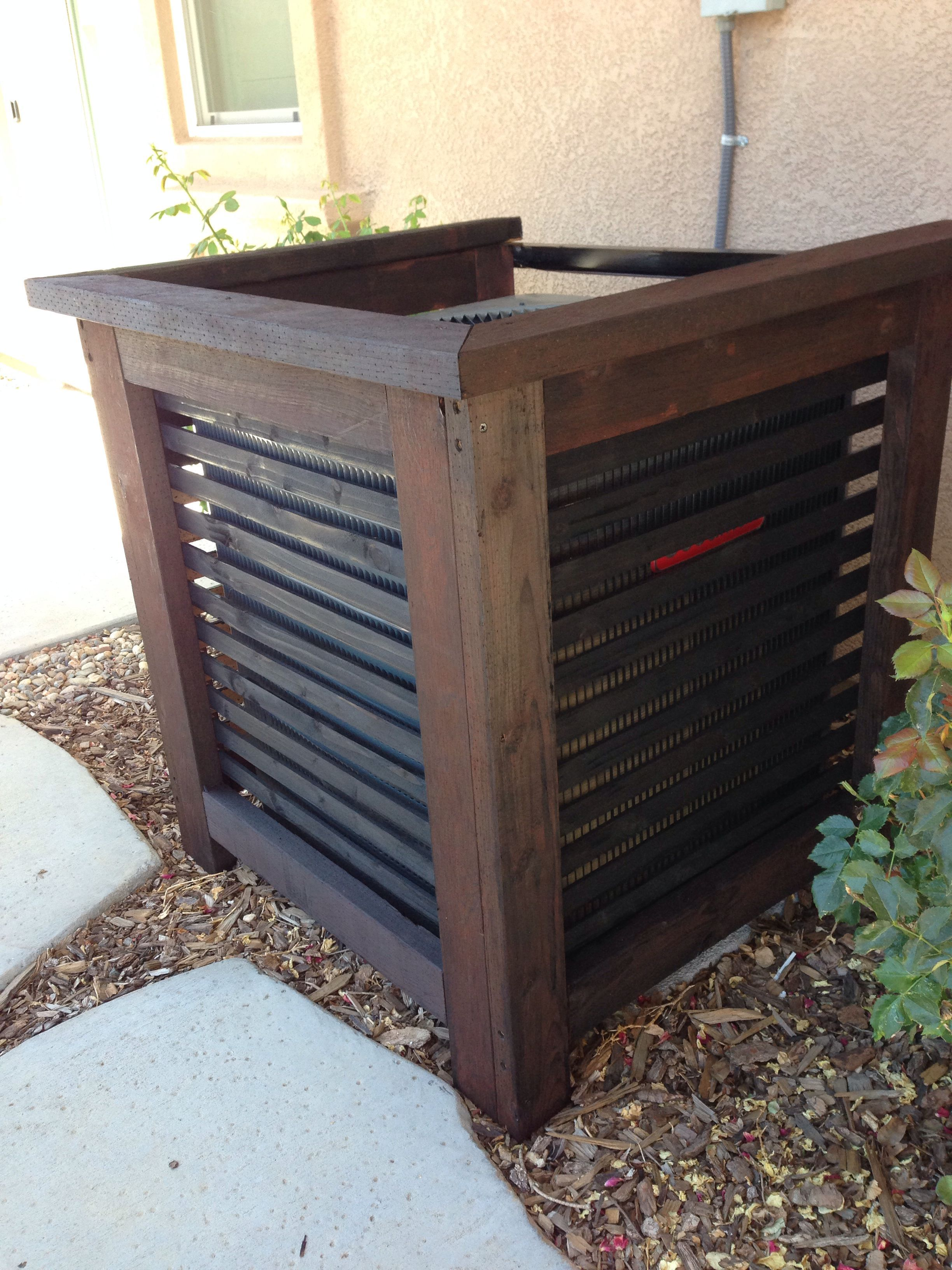 Image result for air conditioner cover wood Backyard