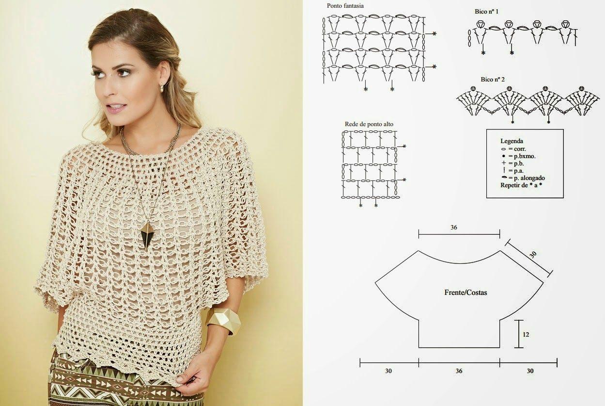 Crochet Knitting - Graphics: Blouse Crochet