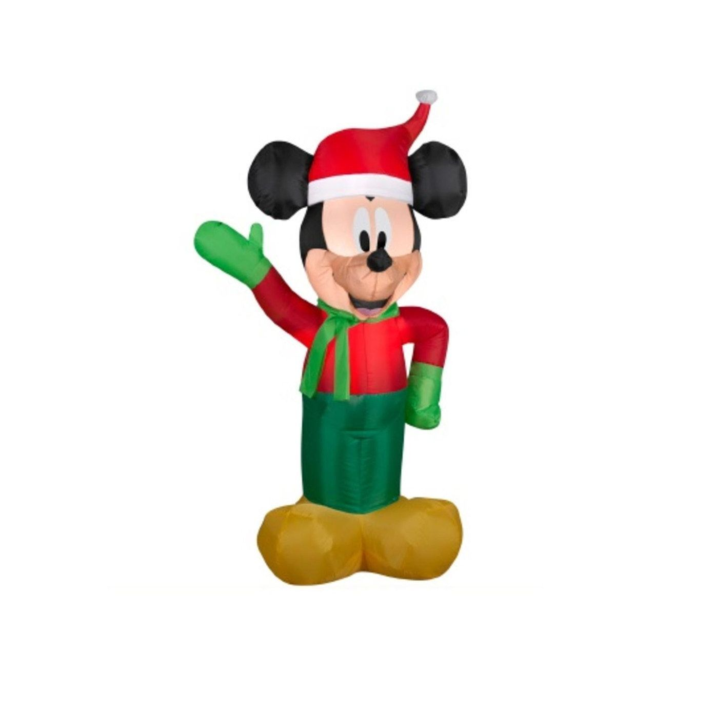 3.5\' Inflatable Disney LED Lighted Winter Mickey Mouse Christmas ...