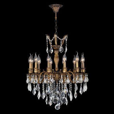 Worldwide Lighting Versailles 12 Light Crystal Chandelier Size: