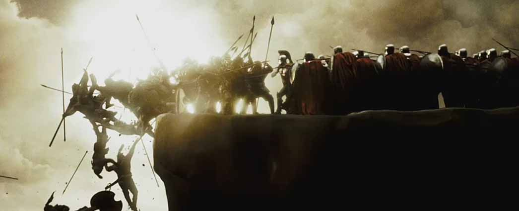 The cliff scene from 300 shows what mr Antolini foresaw ...