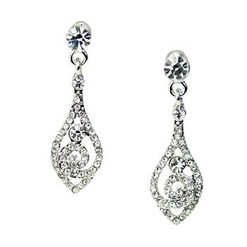 Vintage Swirl Mini Drop Earrings | Wedding | Pinterest | Bridal ...