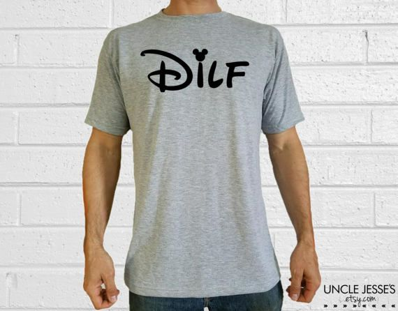 980450e2 Funny Father's Day Gift Idea From Wife: Disney DILF Ash Gray T-Shirt by  UncleJesses Clothing Men's Clothing Shirts T-shirts New Dad Gift Nerd Dad  Best Dad ...