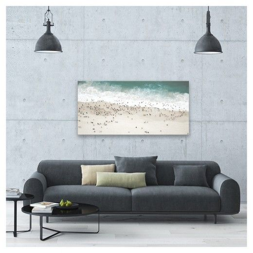 Wonderful With This Decorative Wall Canvas From Project 62™, You Can Almost Hear The  Waves Crashing On The Beach. With White Sand And Sea Green Water, ...