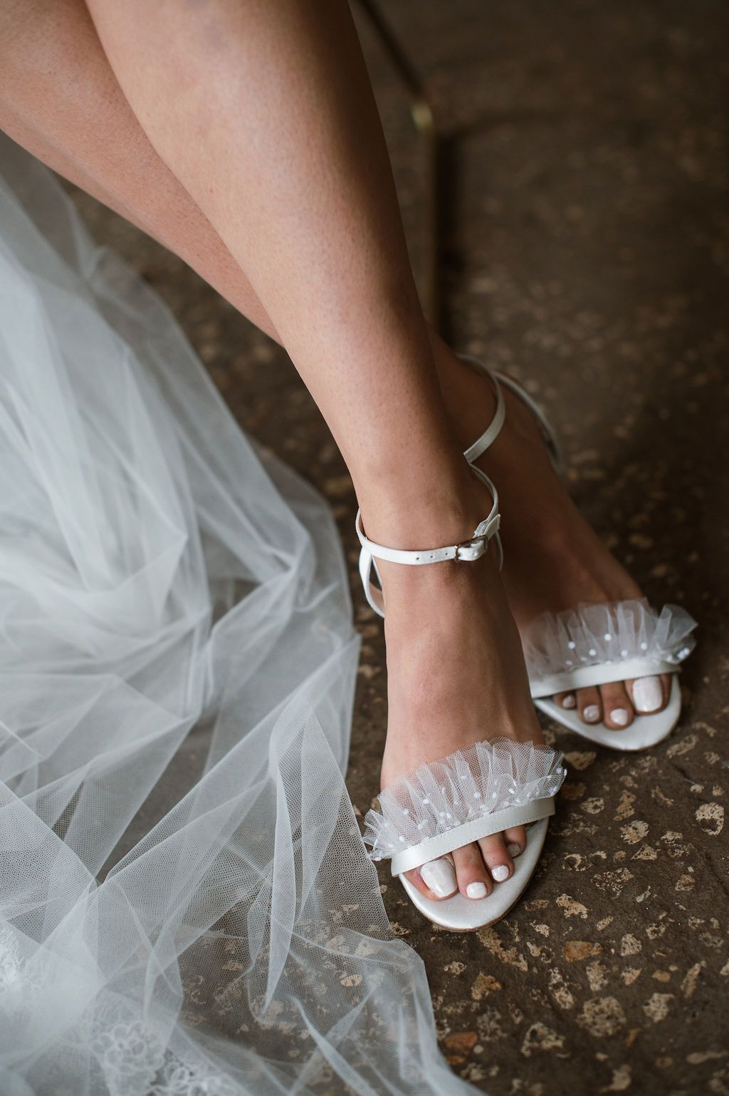 3b88e754db14 Bella Belle Edelweiss Ivory wedding shoe collection  Bridget features fun  and flirty polka dot tulle