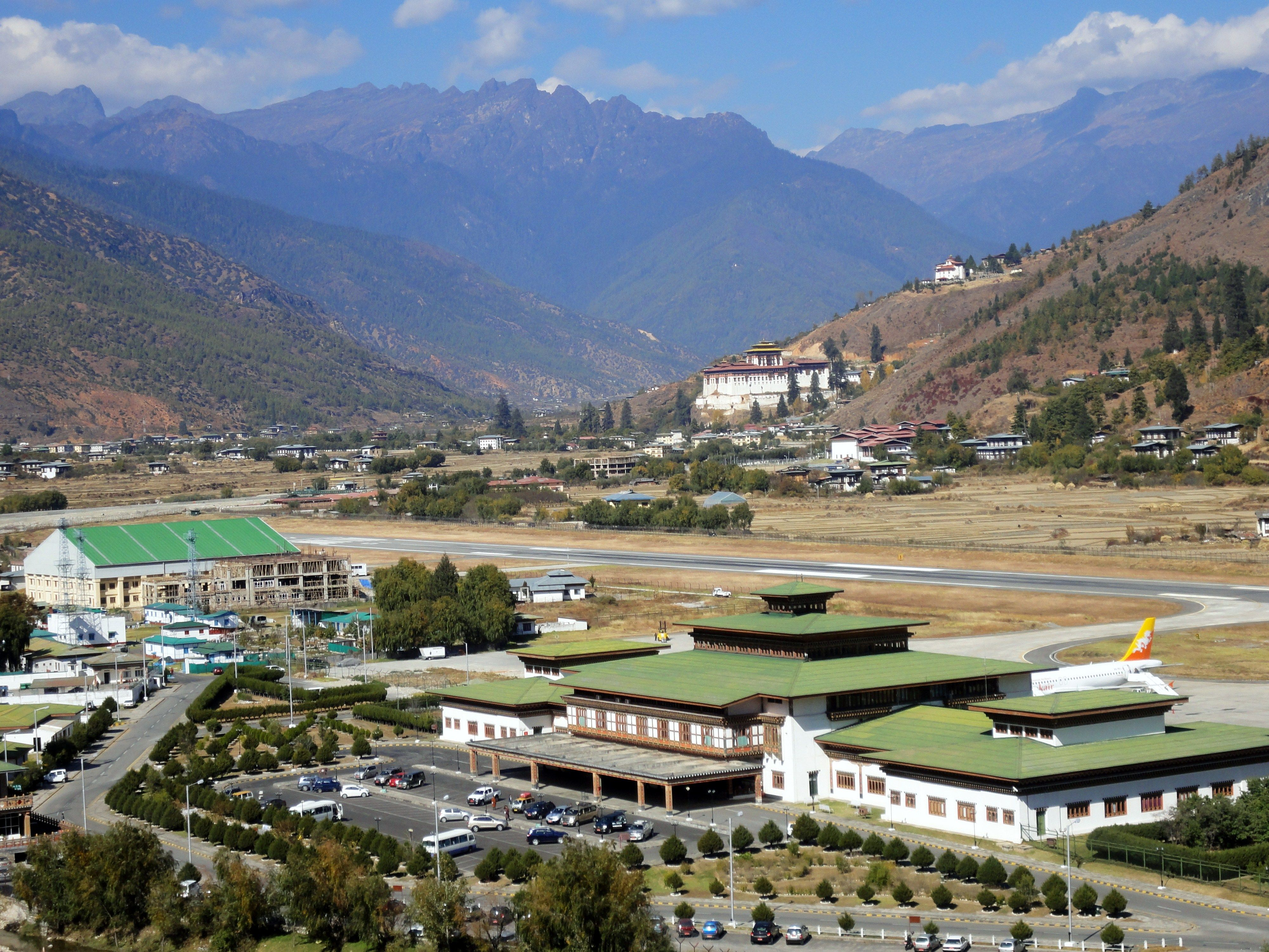 Paro Airport Runway House Styles Mansions House
