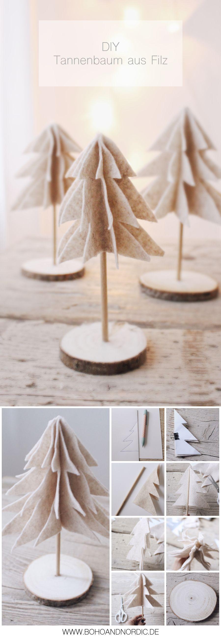 DIY Weihnachtsdeko Tannenbaum im skandinavischen Stil