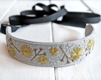 Flower Crown Headband Floral Crown Headband Hand by LoveMaude #crownheadband