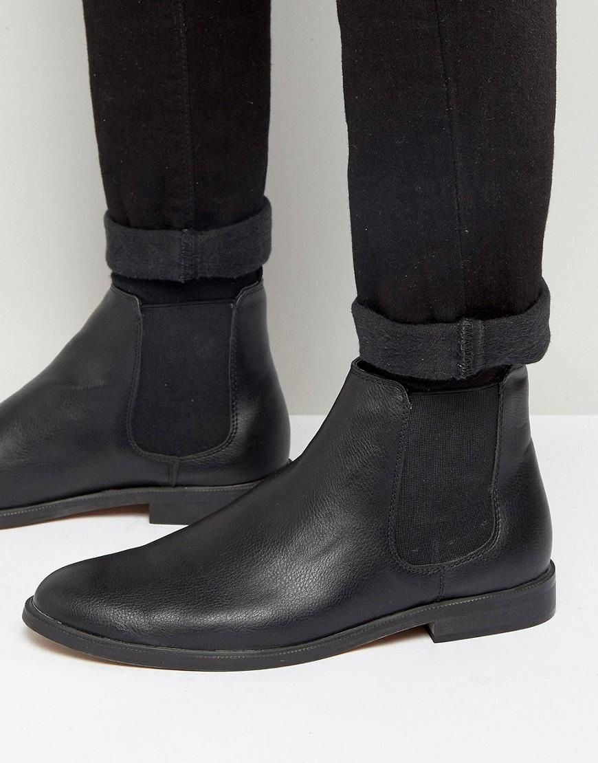 81d3fd72ee6e0 New Look | New Look Faux Leather Chelsea Boot In Black at ASOS ...