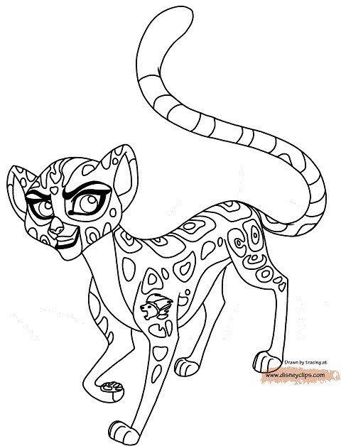 Dibujos La Guardia del Leon para colorear Fuli  La guardia