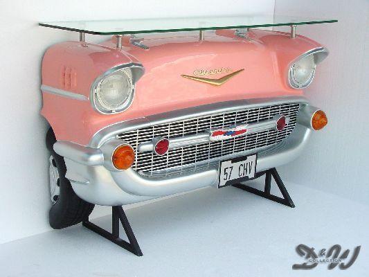 CHEVROLET AUTOBAR in pink BAR AMERICAN DINER Deko USA ...